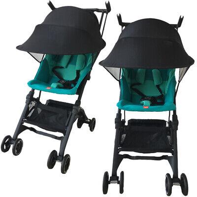 Black Baby Child Pushchair Stroller Pram Buggy Sun Shade Canopy Cover UV UPF50+ 5