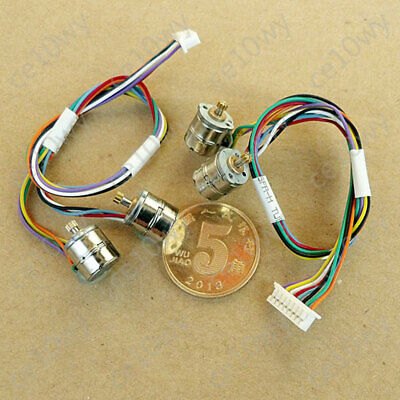 2x 8mm Mini Stepper Motor 2-phase 4-wire Micro Stepping Motor 0.2Mod 9T Gear 10