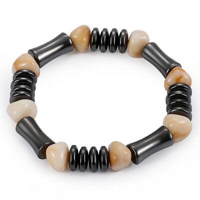 Bracelet magnétique perle hématite Stone Therapy soins de santé bijoux femmes IU