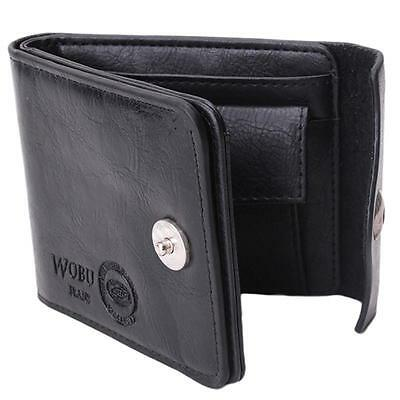 Mens PU Leather Wallet Large Coin Pocket Pouch Bifold Card Holder Purse Bag CS 4