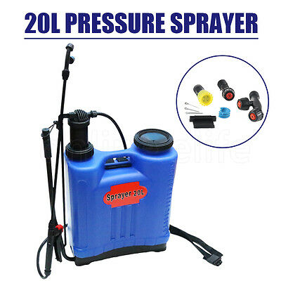 16L Electric Trolley 20L Pressure Backpack Sprayer Garden Weed Killer Spray NEW