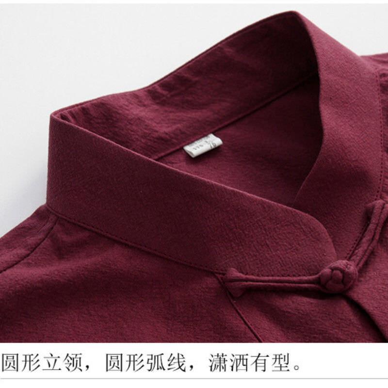 c1ad15c6e130 homme lin et coton manteau chemise Vestes Chinois Kung Fu traditionnel 11  11 sur 12 Voir Plus