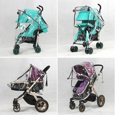 Universal Pushchair Buggy Rain Cover Baby Transparent Stroller Pram Wind Shield 6