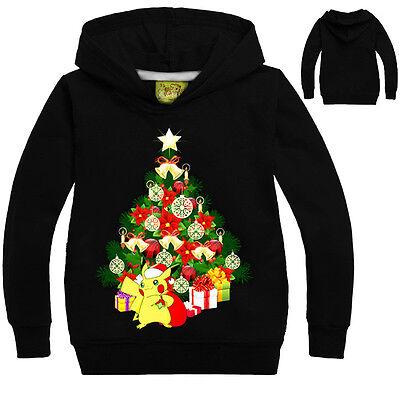 Natale Tema Bambino Felpe Con Cappuccio Giacca Top Vestiti 6