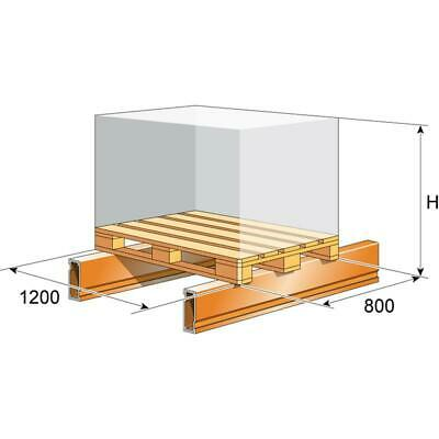 H 3500 mm Palettenregal von Nedcon 1000 Kg pro Palettenplatz 3000 Kg pro Eb.