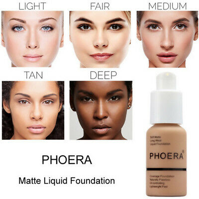 Phoera Perfect Beauty Face Liquid Foundation Base Soft Matte Long Wear Oil 2