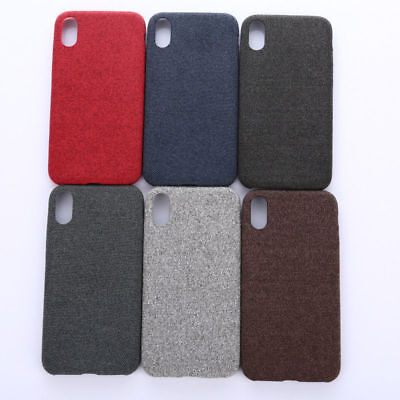 For iPhone XS Max XR X 6s 7 8 Plus Warm Fabric Soft Shockproof Matte Cover Case 2