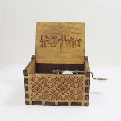 Tiny Harry Potter Wooden Hand Engraved Music Box Fun Interesting Toys Kids Gifts 8