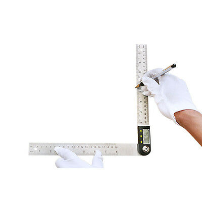 200 mm 8 inch Electronic Digital Protractor Goniometer Angle Finder Steel Ruler 9