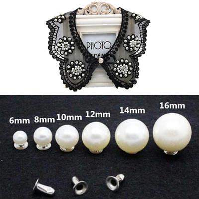 Pearl/'rivets button for cloth pant hat bag DIY crafts decor garment scrapbooNIU