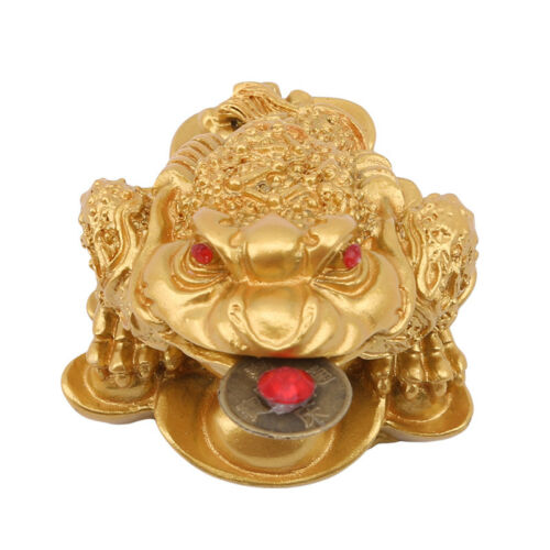 FENG SHUI MONEY Lucky Frog Coin Toad/Chan Chu Chinese Prosperity Decor Prop  N7