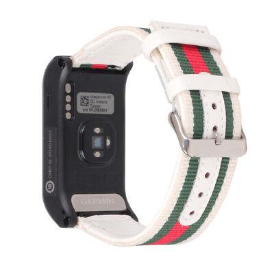 Replacement Nylon Canvas Watchband Wrist Band Strap For Garmin VIVOACTIVE HR UK 11