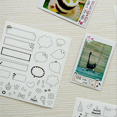 6 Sheets Cartoon Paper Sticker Scrapbook Calendar Diary Planner Decor YL