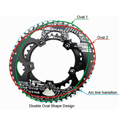 US SNAIL 110BCD 50//35T 9-11Speed Double Speed Oval MTB Road Bike Chainring