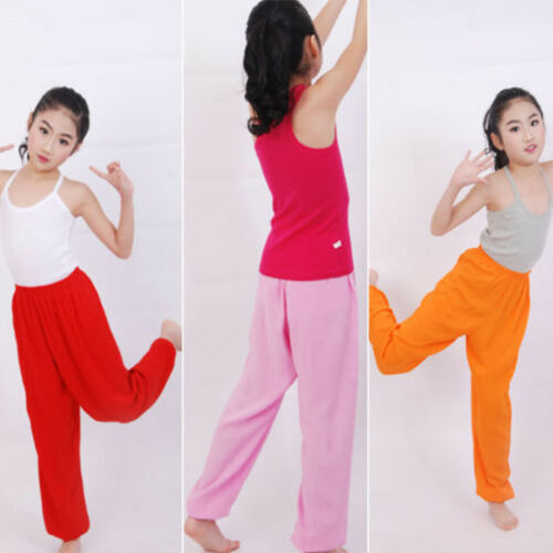 Kids Girls Boys Harem Loose Trousers Baggy Bloomer Pants Children Dance Bottoms 4