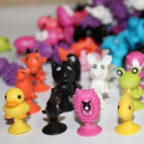 10pcs Mini Animal Action Figure Sucker Cup Cartoon Monster Child Kids Toys w 4
