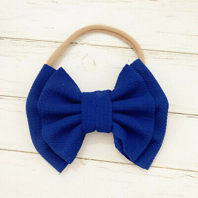 Handmade Baby Girls Simple Corn Bow Infant Headband Hair Band Knot Head Wrap 8