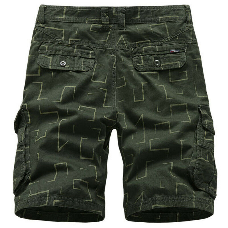 Mens Cargo Combat Work Shorts Trousers Army Military Hiking Camping Half Pants 3