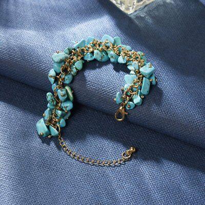 Natural Crystal Stone Chipped Raw Bracelet Women Quartz Bangle Lucky Jewelry New 10