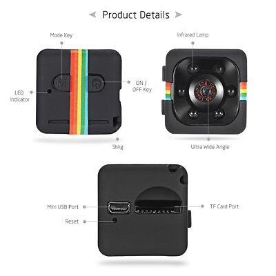 Telecamera Spia Microcamera Infrarossi Full Hd Nascosta Micro Notturna Mini Sq11 2