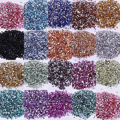 En Gros 2000pcs Cristal Acrylique Pierre De Strass Dos Plat Perles Nail Art/ 2