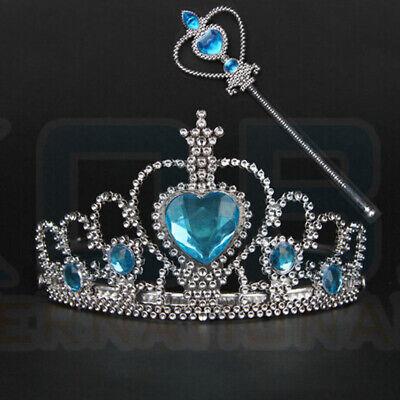 Vicloon Ice Princess Elsa Accessories Set  Tiara Crown and Magic Wand Girls Gift 9