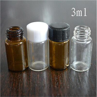 3 ml 5 ml Braunglasflasche Tropfeinsatz Apothekerflasche Proben Medizinflaschen 6