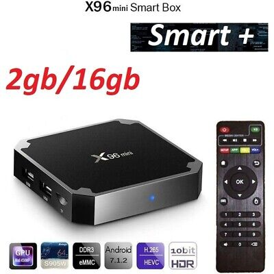 Nouveau 2019 X96 mini 4K récepteur décodeur satellite TV Box Android 7.1.2 WiFi 3
