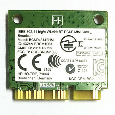 broadcom bcm43142 driver windows 8 hp
