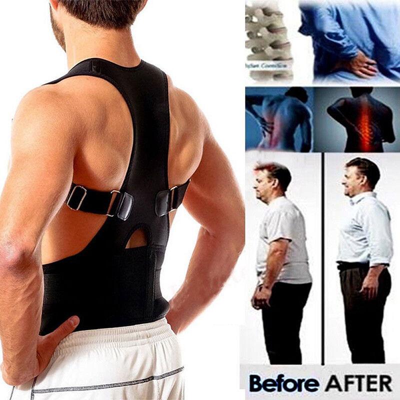 Posture Corrector support magnétique dos épaule ceinture de renfort ZH