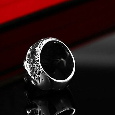 Fashion Men's Stainless Steel Silver Cool Gothic Punk Biker Finger Rings Jewelry
