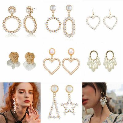Fashion Women Statement Boho Geometric Big Pendant Ear Stud Dangle Drop Earrings 3