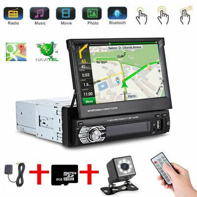 "7"" Autoradio 1Din Mit Gps Navigation Navi Bluetooth Touch Screen Usb Sd Mp3 Map 2"