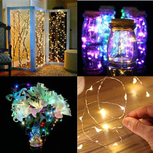 20 50 100led beleuchtung lichterkette dekoration dekodraht. Black Bedroom Furniture Sets. Home Design Ideas