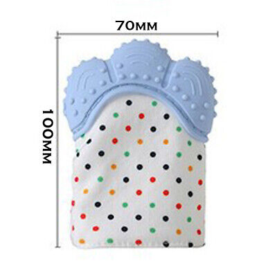 Silicone Baby Teether Teething Bite Mitten Glove Safe BPA Free Chew Dummy Toy AU 2