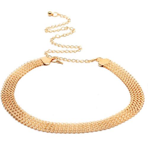 Mode Elegant Welle Metall Taille Kette Gürtel Gold Schnalle Körper Kleid Gürt W~