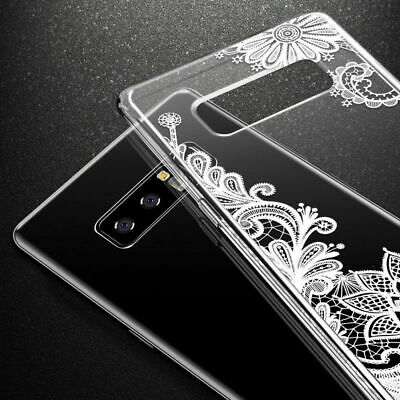 Galaxy Note 10 Plus 10+ S10e S10+ Case Mandala Lace Clear Bumper Cover F Samsung 11