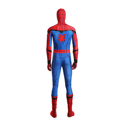 Spiderman Spider-Man:Homecoming Cosplay Costume Halloween full suit with shoes 8