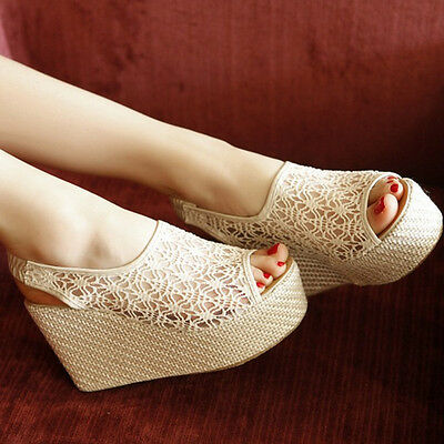 Eleganti sandali  donna zeppa 11 cm disp in 4 colori  cm 8287