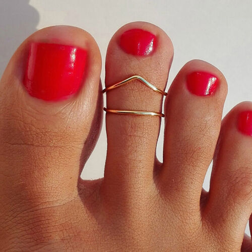 Female Rose Gold Silver Plated Toe Ring Special Finger Foot Rings Jewelry DB 5
