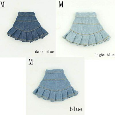 """Blue Jeans Casual Wear Clothes For 11.5"""" Doll Kids Toy A-line Skirt For 1/6 Doll 3"""
