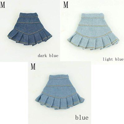 "Blue Jeans Casual Wear Fashion Doll Clothes For 11.5"" Doll Kids Toy A-line Skirt 3"
