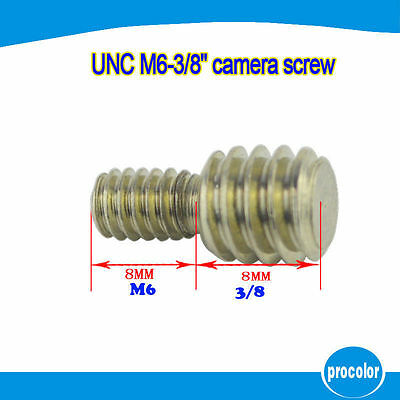 M6 to 3/8 inch Threaded Double Male Adapter Screw UK Seller 5