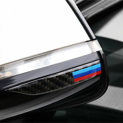 //M Sport Carbon Fiber Rearview Mirror Anti-Rub Strip Frames For BMW 1 2 4 GT X1 2