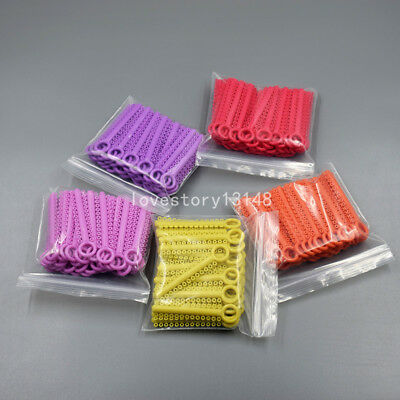 1040 Pcs Dental Orthodontic Elastic Braces Rubber Ligature Ties 37 Colors 1 Pack 4