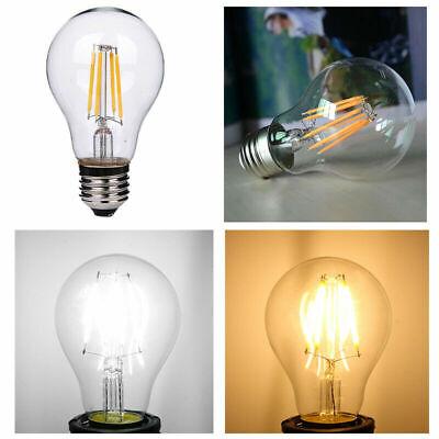 1x/4x 2W 4W 6W 8W E27 E14 LED Edison Filament Candle Globe Light Bulbs Lamp 4