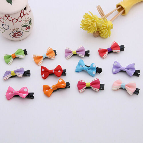 10PCS Bows Snaps Hair Clip Girls Baby Kids Hair Accessories Alligator Clips Gift 10