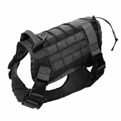 US Police K9 Tactical Training Dog Harness Military Adjustable Molle Nylon Vest 4