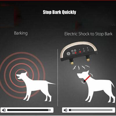 Anti Bark Electric Shock Dog Collar Stop Barking Pet Training Collar Control 8