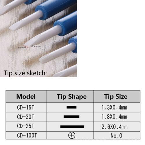 DIY ajuster tournevis antistatique plastique portable en céramique réparationIH